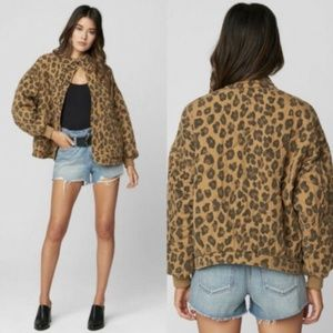 BLANKNYC Leopard Natural Attraction Quilted Jacket